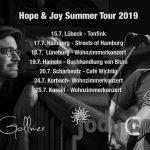Tourstops von Omid Gollmer und Jody Cooper.