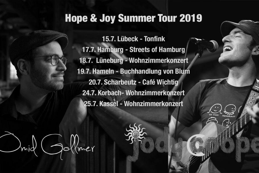 Summer Tour (15.7.-25.7.) mit Jody Cooper